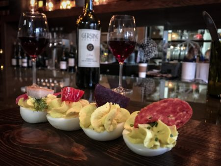 oeufs and wine at oui bar
